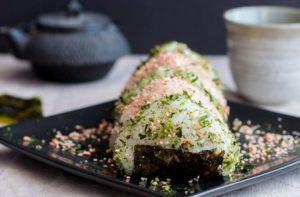 Seasoned onigiri makanan khas jepang